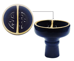 Double Compartment Hookah Bowl