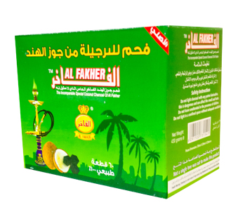 Al-Fakher Coconut Charcoal 60 Piece Box