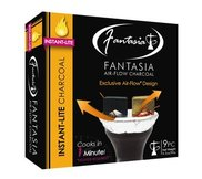 Fantasia Air-Flow Instant-Lite Hookah Charcoal 9 Piece Box