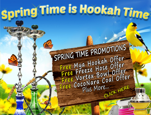 Spring Time Is Hookah Time Promotions