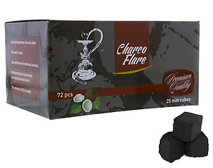 Charco Flare Coconut Charcoal Cube 72 Piece Box