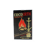 CocoUrth Coconut Charcoal Quarter Circle 96 Piece Box