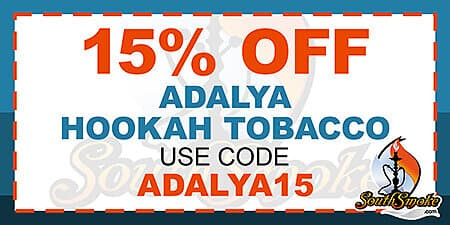 15% Off Adalya Tobacco Promotion