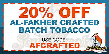 20% Off Al-Fakher Crafted Batch Tobacco
