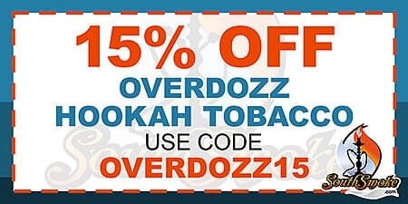 15% Off OverDozz Tobacco Promotion