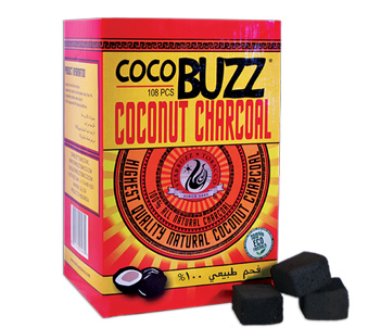 CocoBuzz Coconut Charcoal 108 Piece Box