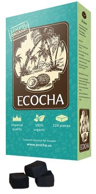 Ecocha Coconut Charcoal Flat 324 Piece Box
