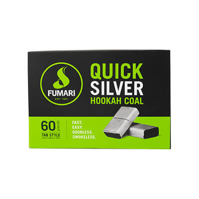 Fumari Quick Silver Charcoal 60 Piece Box