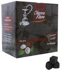 Charco Flare Coconut Charcoal Cube 144 Piece Box