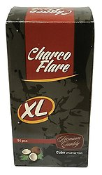 Charco Flare Coconut Charcoal XL Cube 54 Piece Box
