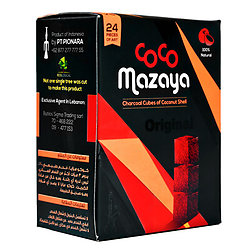 CocoMazaya Coconut Charcoal 24 Piece Box