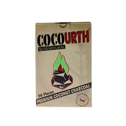 CocoUrth Coconut Charcoal Flat 96 Piece Box