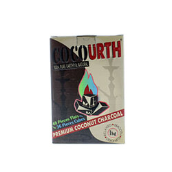 CocoUrth Coconut Charcoal Split 84 Piece Box