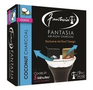 Fantasia Air-Flow Coconut Hookah Charcoal 9 Piece Box