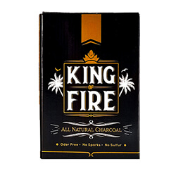 King of Fire Coconut Charcoal Cube 72 Piece Box
