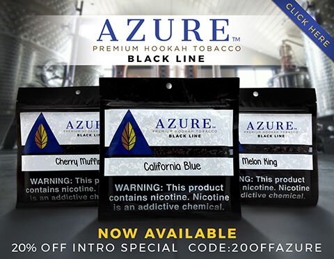 Azure Flavored Hookah Shisha Tobacco Introductory Promotion
