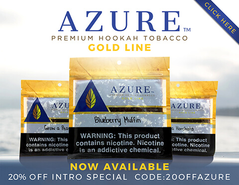 Azure Gold Line Hookah Tobacco Special