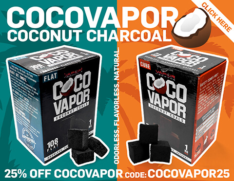 CocoVapor Natural Coconut Hookah Charcoal