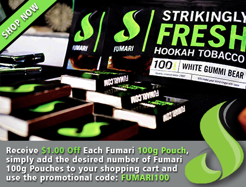 Takew 1$ off every 100g pouch of Fumari in your Cart