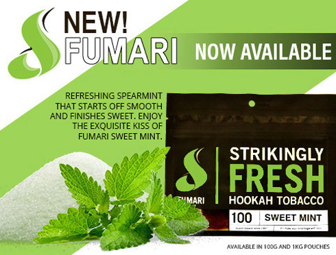 Fumari Tobacco Featuring New Sweet Mint