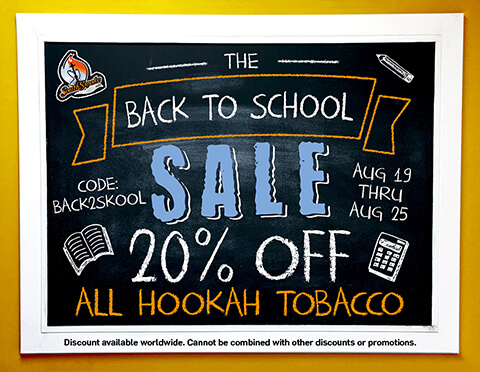 Back To School Sale Hookah Tobacco